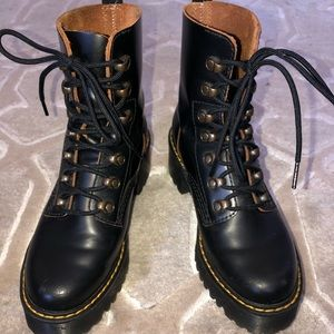 Dr Marten Leona Platform Boots